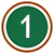 white number one icon in green circle